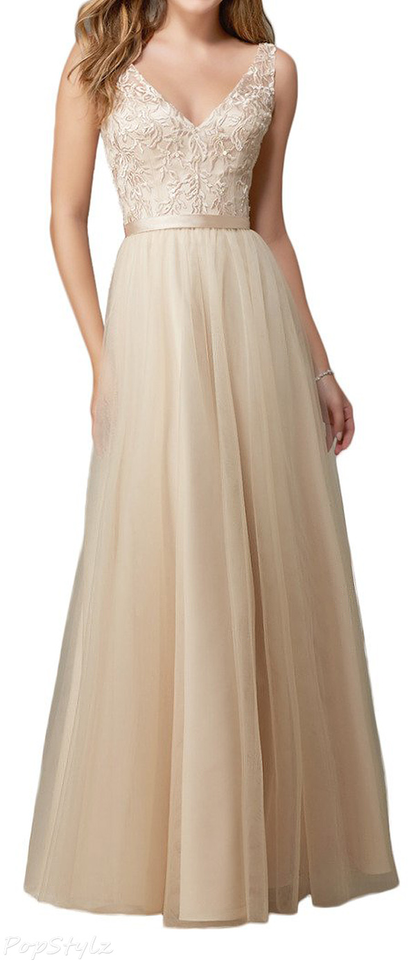 Audrey Bride V-Neck Tulle Formal Dress