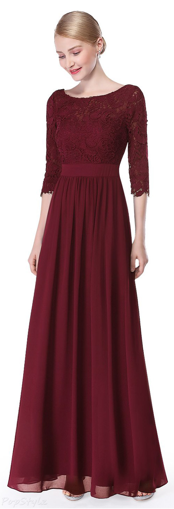 Ever Pretty Lace Floor Length Evening Dress