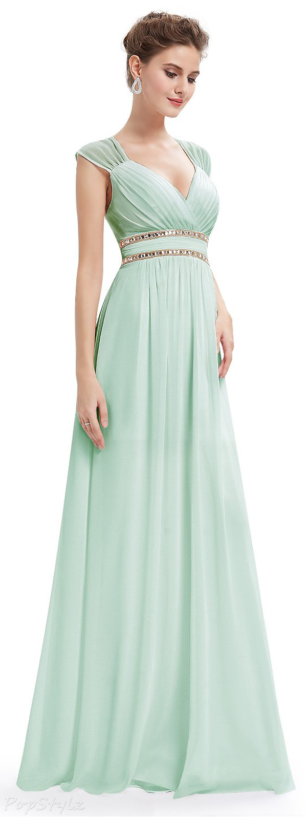 Ever Pretty Sleeveless Grecian Style Evening Dress
