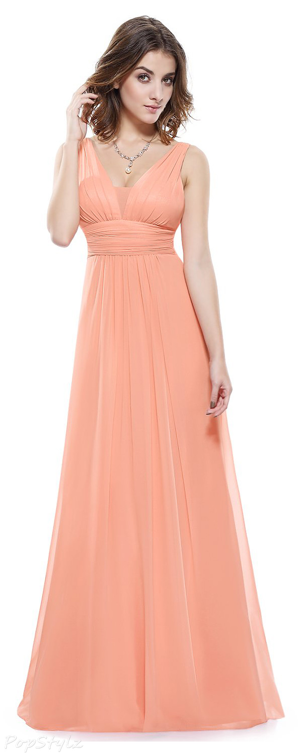Ever Pretty Ruched Waist Long Formal Dress