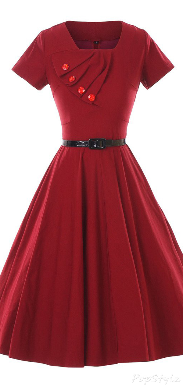 GownTown 1950s Vintage Swing Dress
