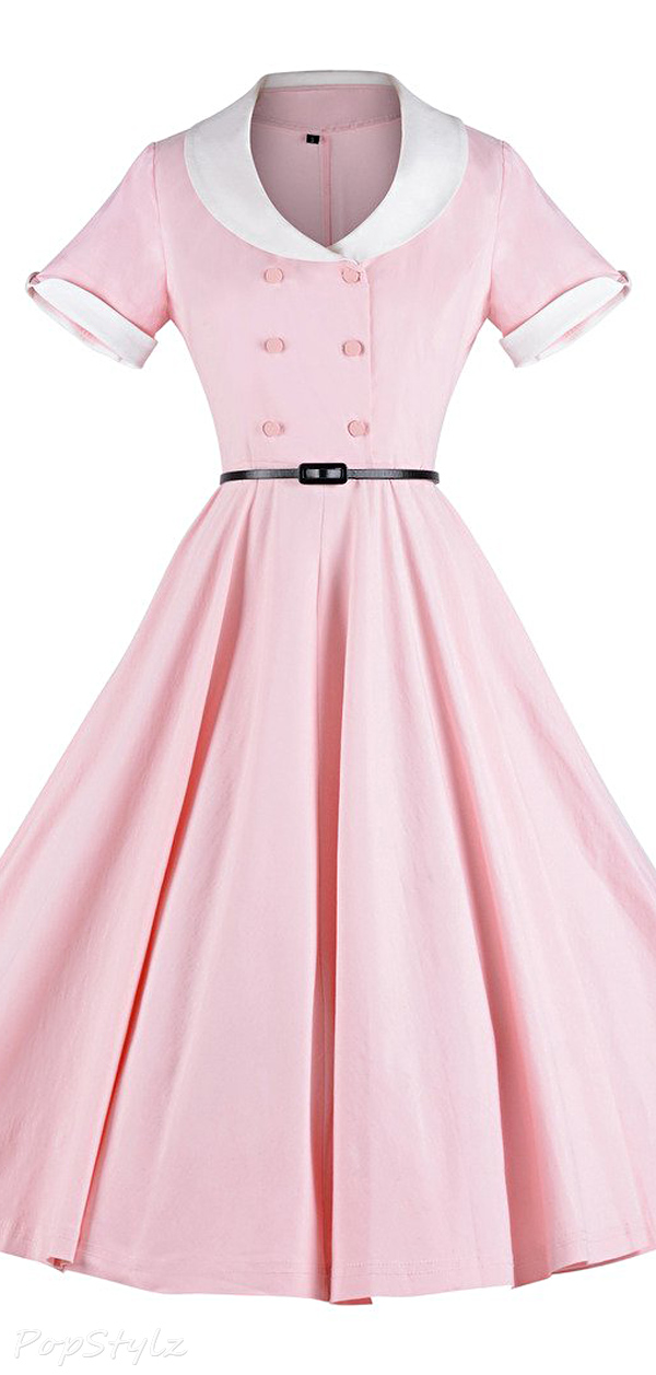 GownTown1950s Vintage Rockabilly Swing Dress