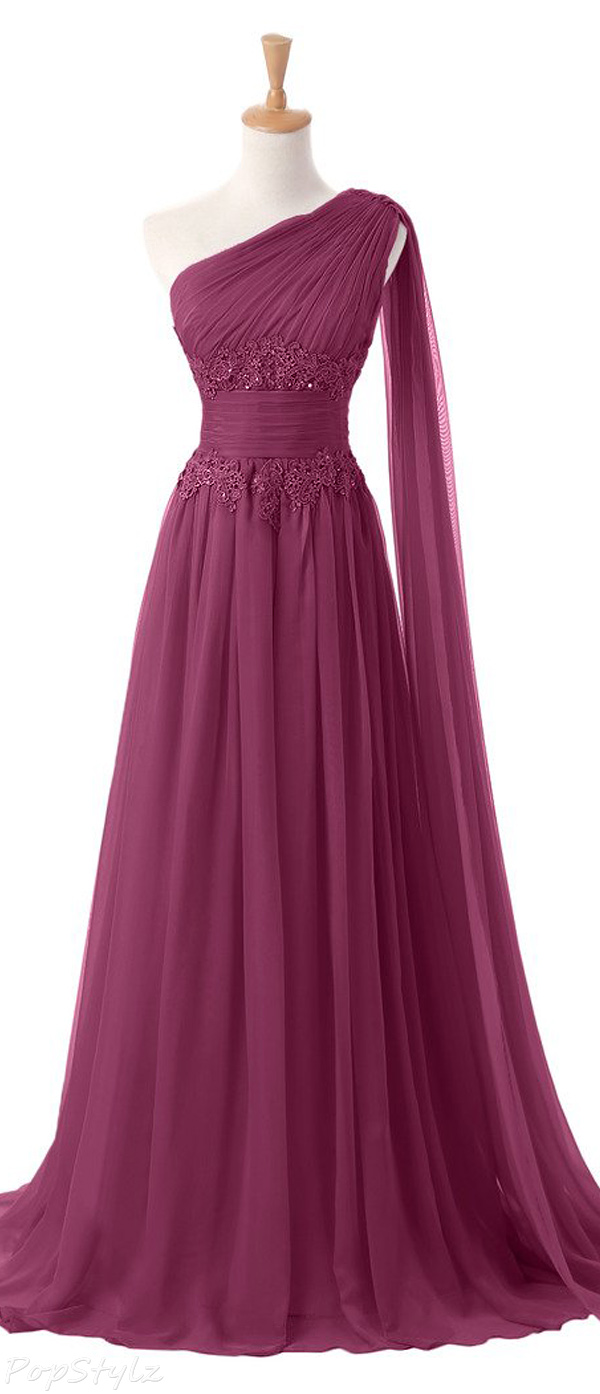 Sunvary Applique Waist Lovely Evening Gown