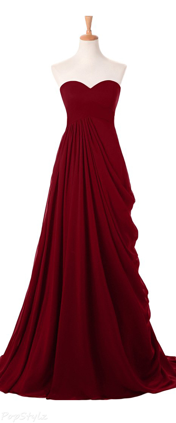 Sunvary Elegant Strapless Sweetheart Evening Gown