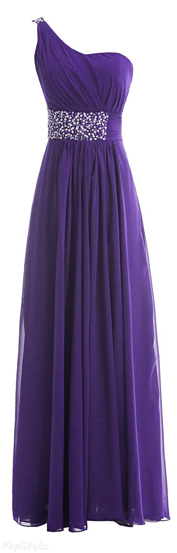 Sunvary One Shoulder Long Evening Gown