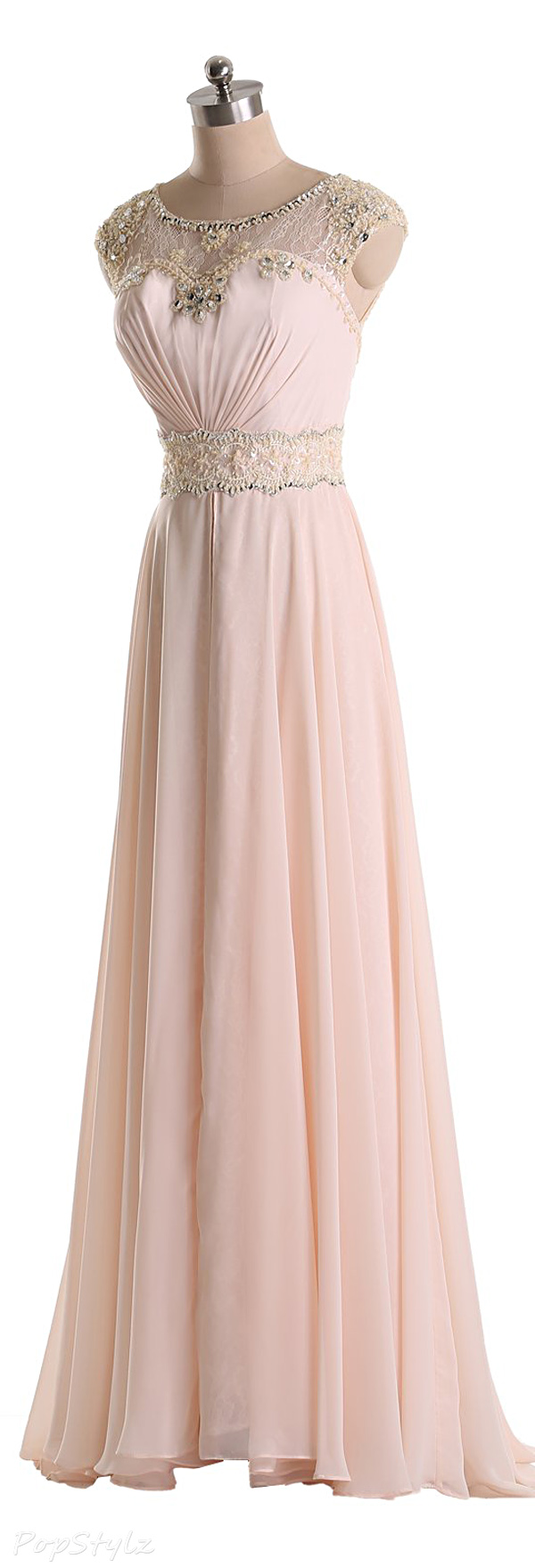 Sunvary Chiffon Jewels & Lace Evening Gown