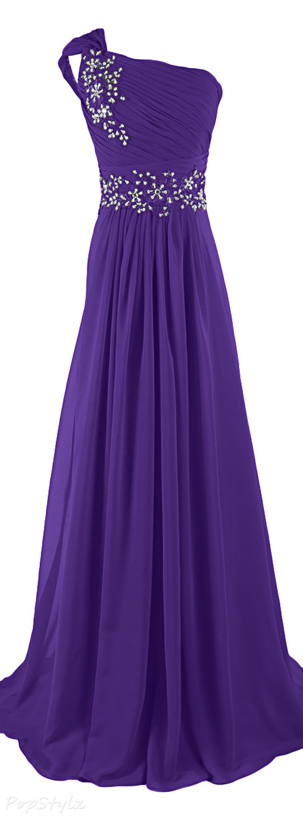 Sunvary One Shoulder Chiffon Evening Gown