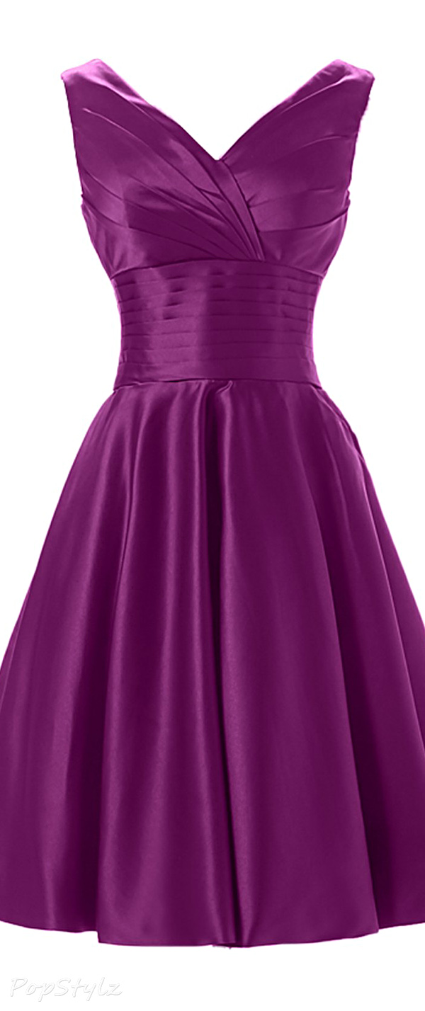 Sunvary Satin Knee Length Formal Dress