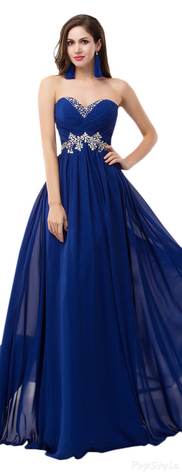 Sunvary Sweety Chiffon Strapless Evening Gown