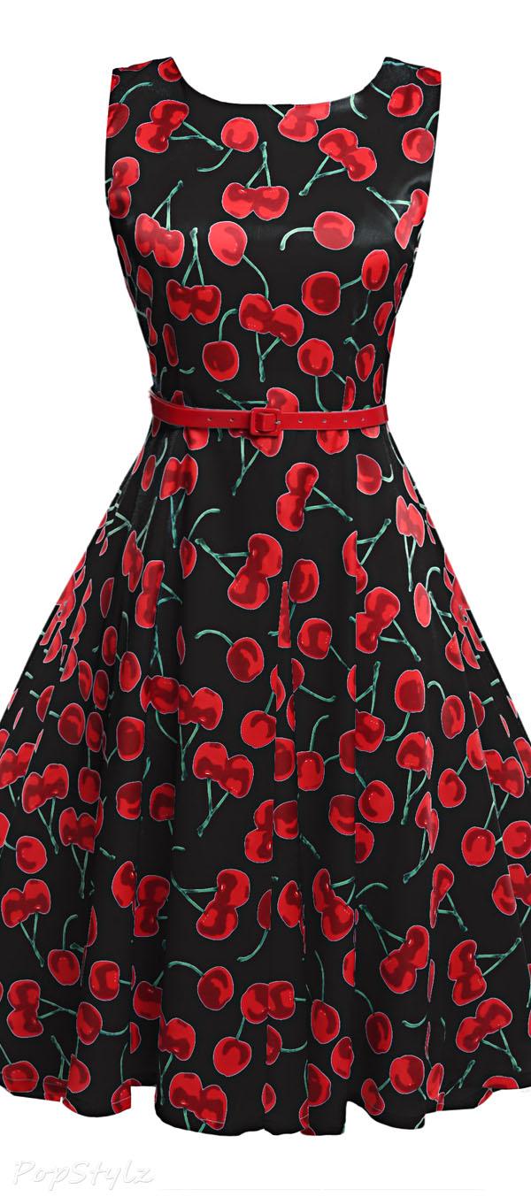 Acevog Vintage Tea Party Dress with Belt