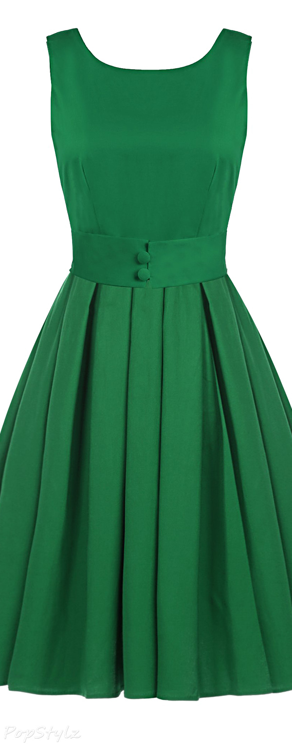 Acevog Vintage 1950s Audrey Hepburn Swing Dress