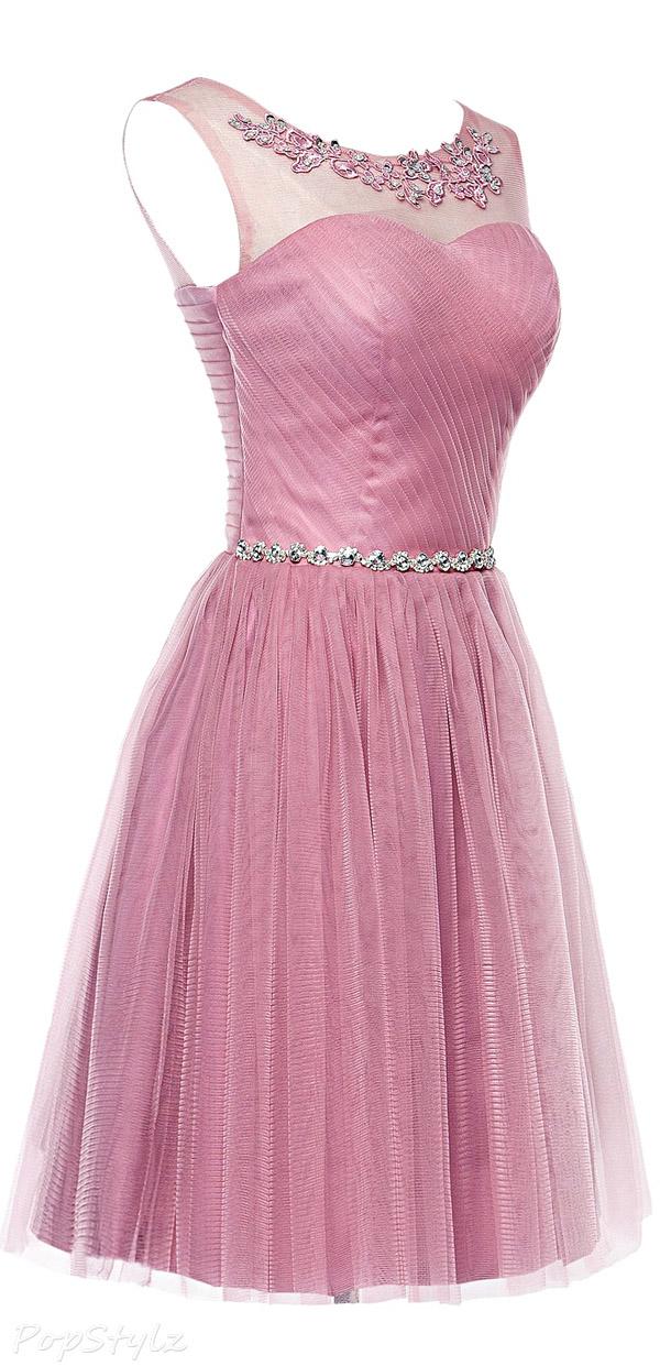 Erosebridal Beaded Tulle & Lace Evening Dress