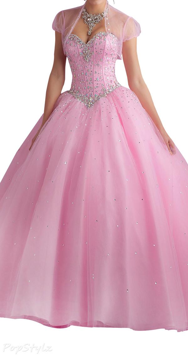 Erosebridal Sweetheart Tulle & Satin Evening Gown