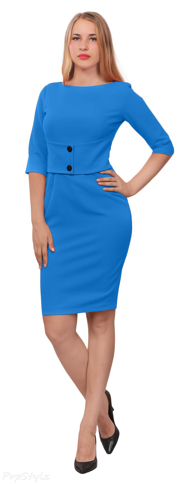 Marycrafts Classy Vintage 50s Wiggle Pencil Dress