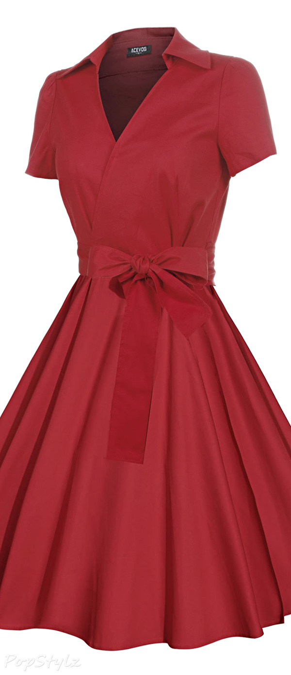 Acevog Vintage 50's 60's Rockabilly Swing Dress