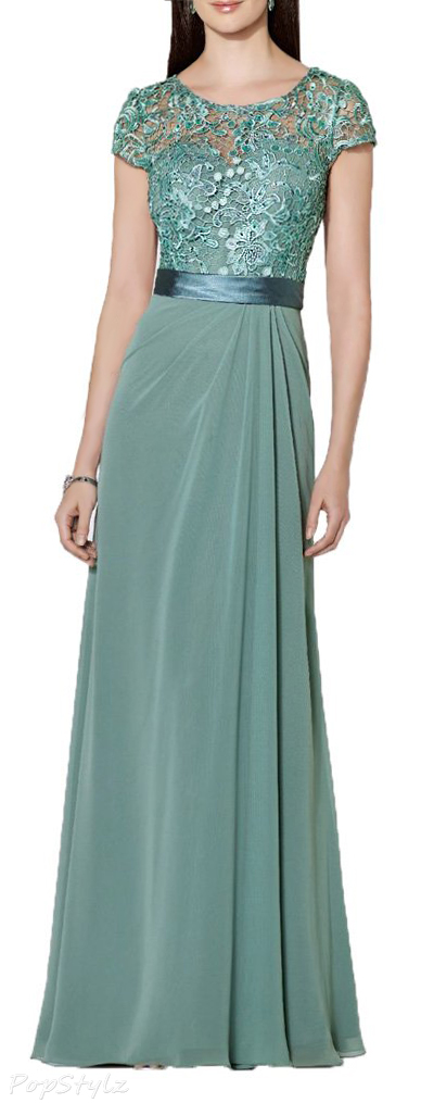 Alinafeng Lovely Lace Cap Sleeve Formal Dress