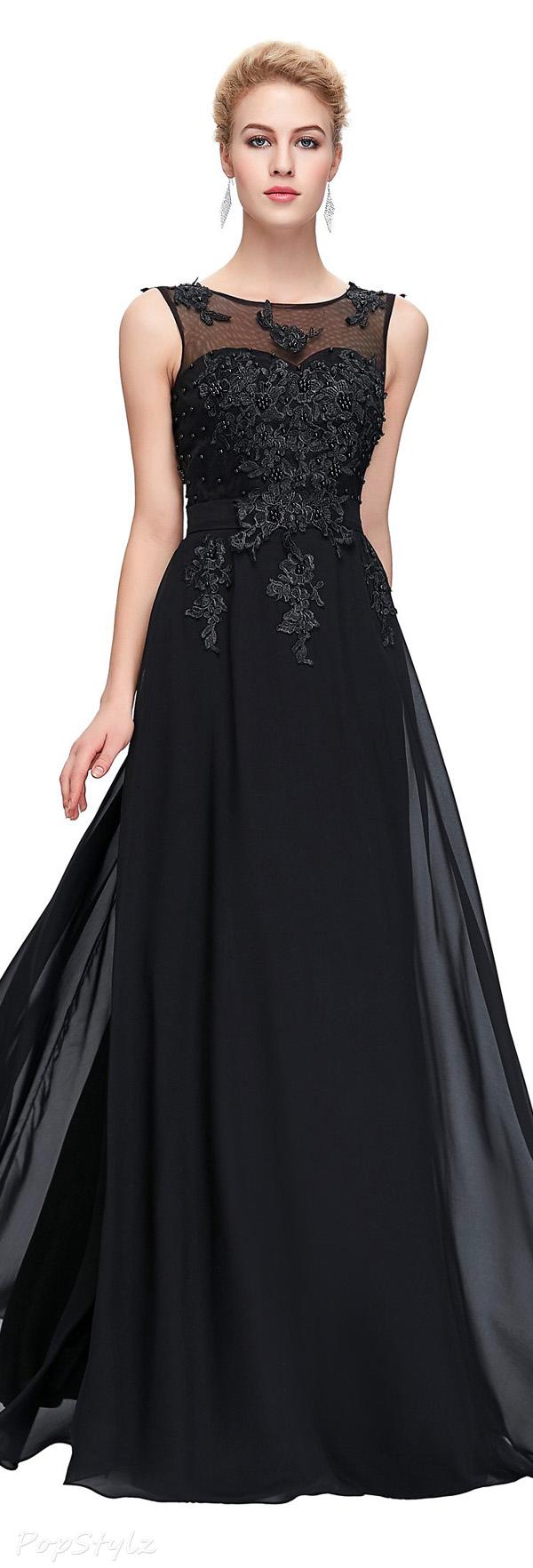 Grace Karin Beads & Applique Evening Gown