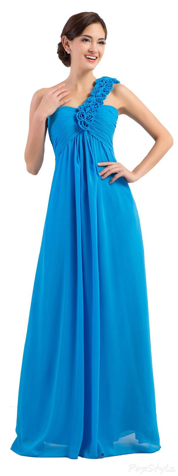 Grace Karin One-Shoulder Evening Dress