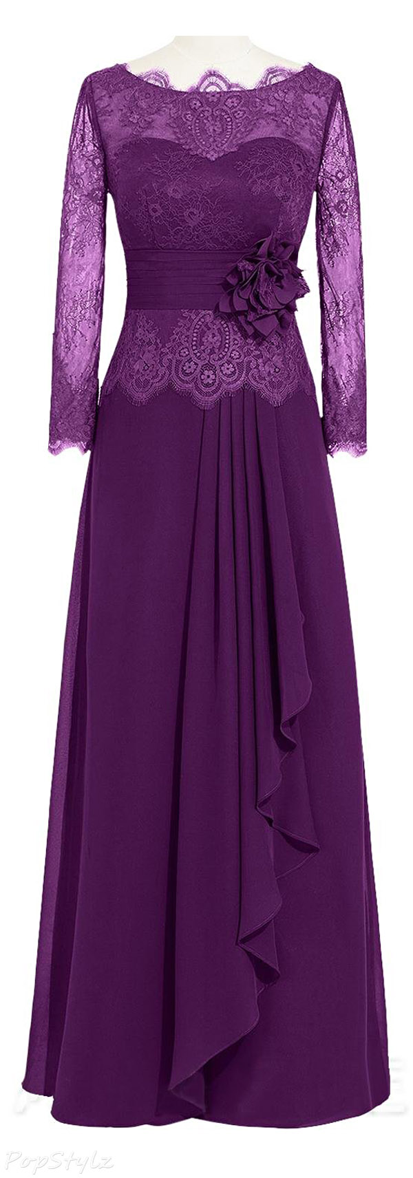 ORIENT BRIDE Lace A-Line Evening Gown