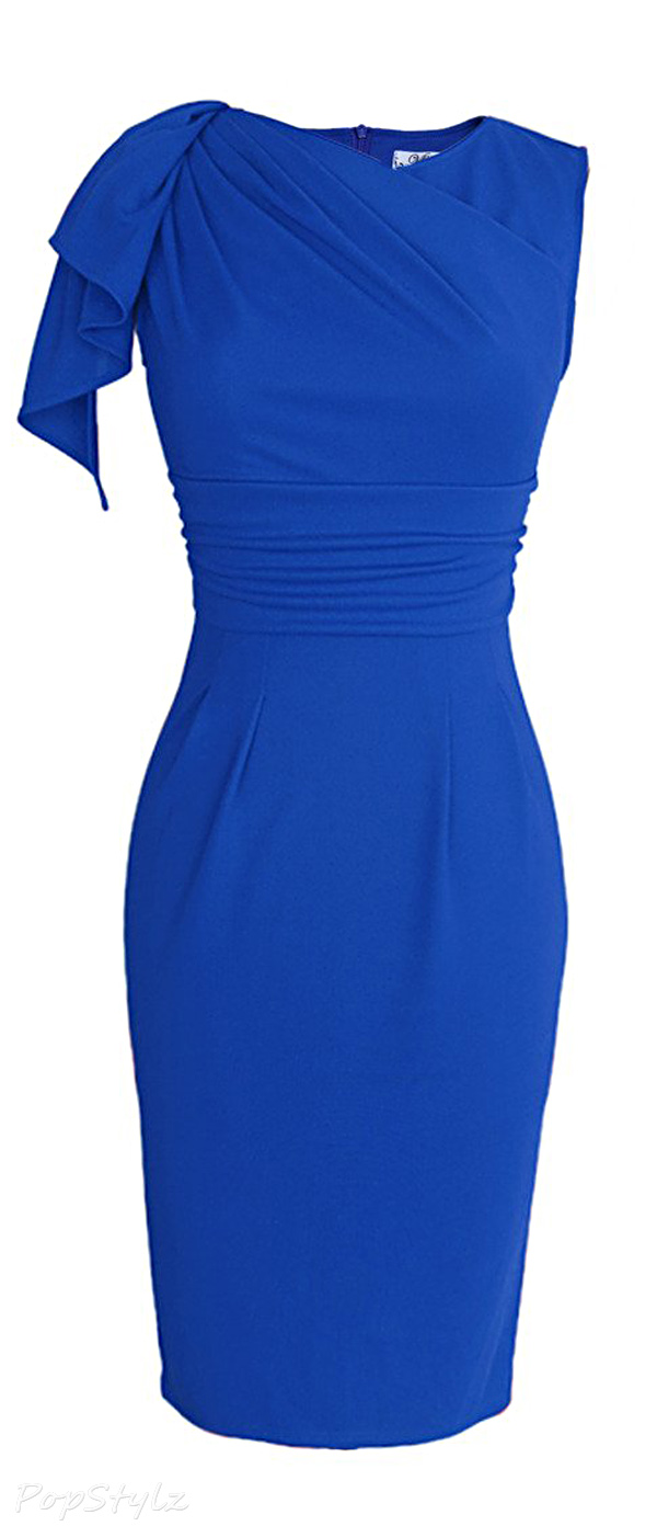 Vfemage Elegant Ruched Bodycon Dress