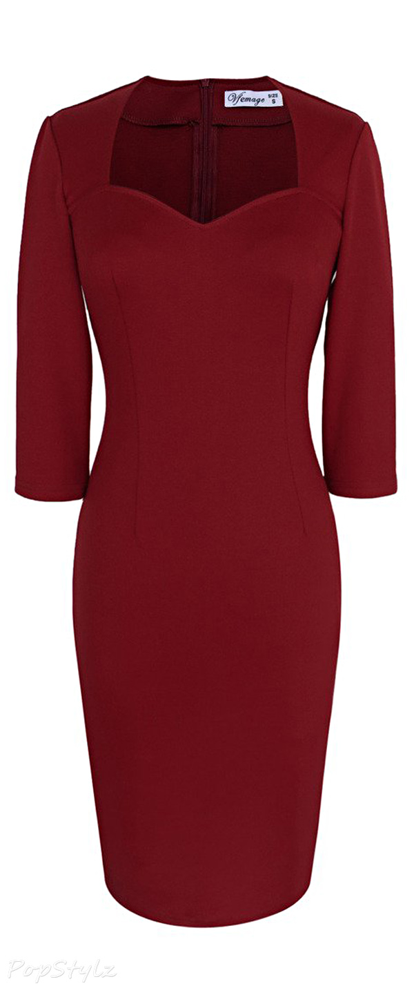 Vfemage Elegant Bodycon Sheath Dress