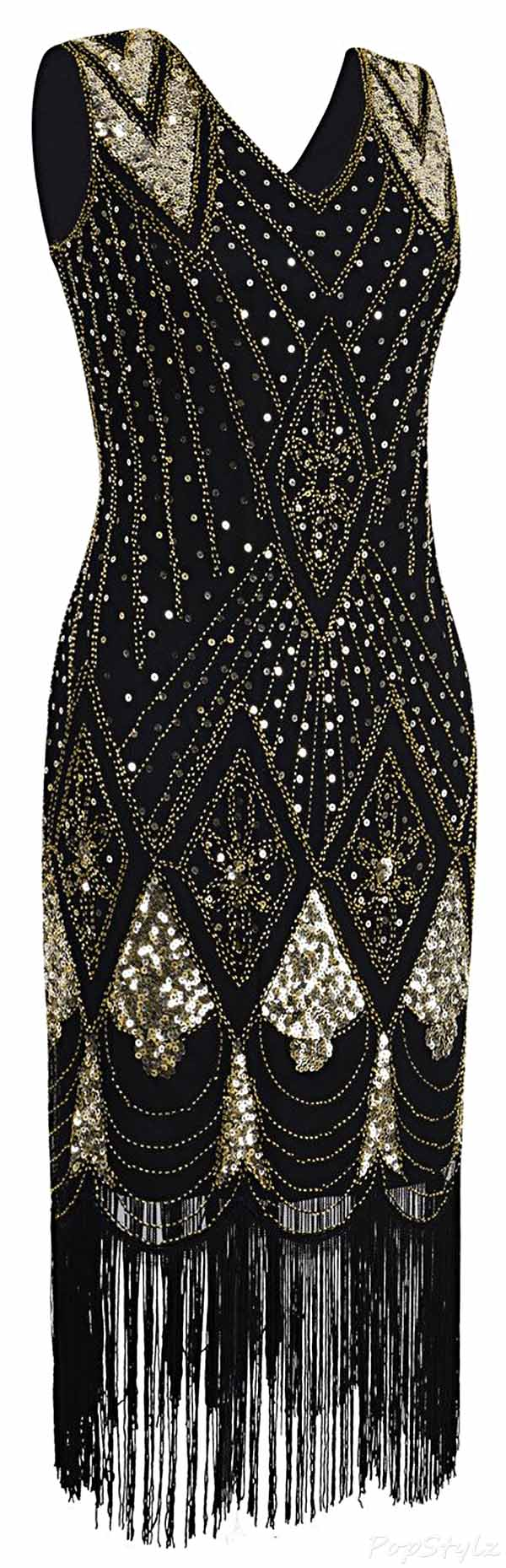 PrettyGuide 1920's Sequin Gatsby Flapper Dress
