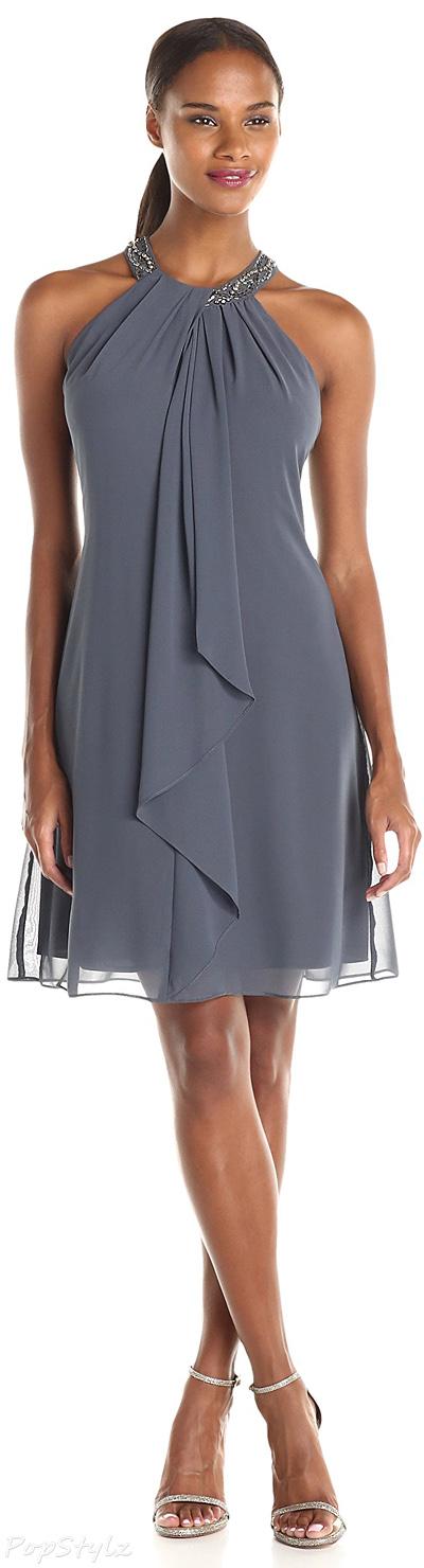 S.L. Fashions Jewel-Neck Sheath Dress
