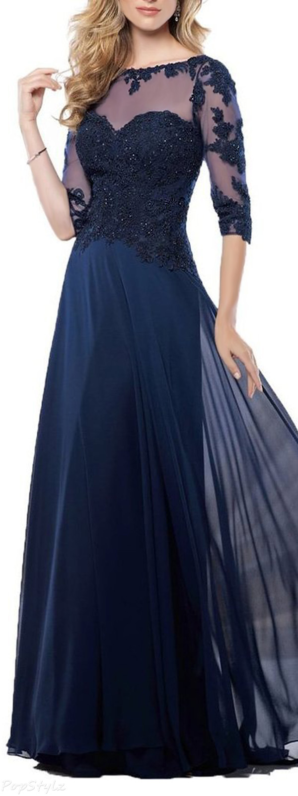 Fanmu Long Lace Evening Gown