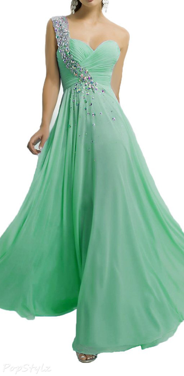 Alinafeng Beads & Crystals Formal Evening Gown