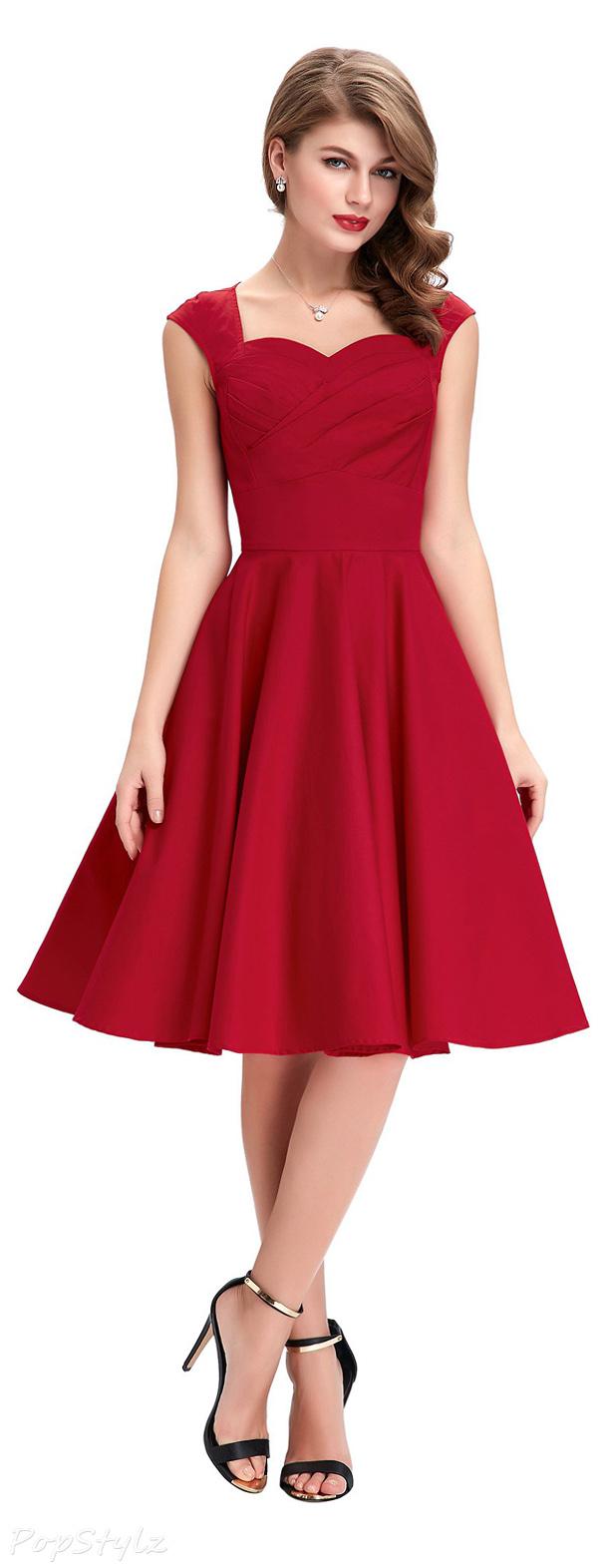 Belle Poque Sweetheart 50s Retro Swing Dress