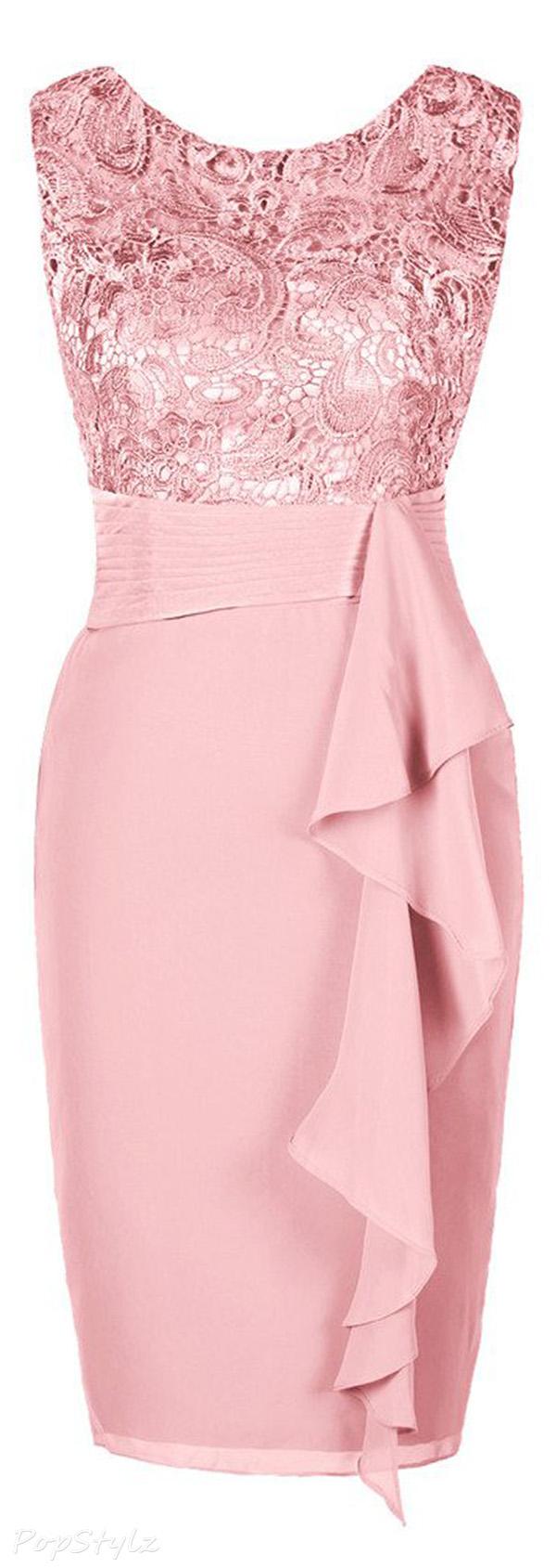 Ellames Short Lace Formal Party Dress