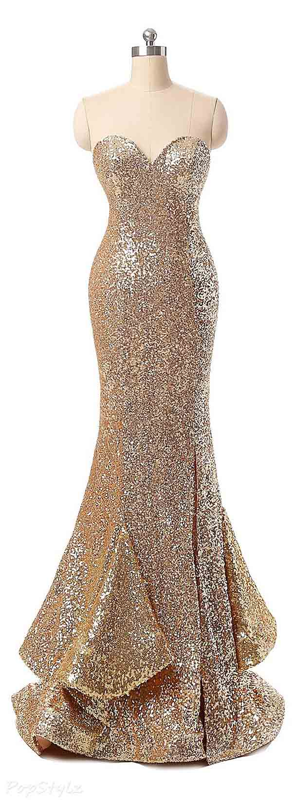 Fanciest Sweetheart Sequin Mermaid Evening Gown