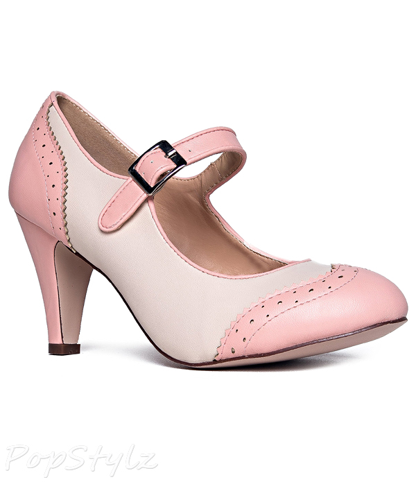 J. ADAMS Retro Round Toe Mary Jane Oxford Pump