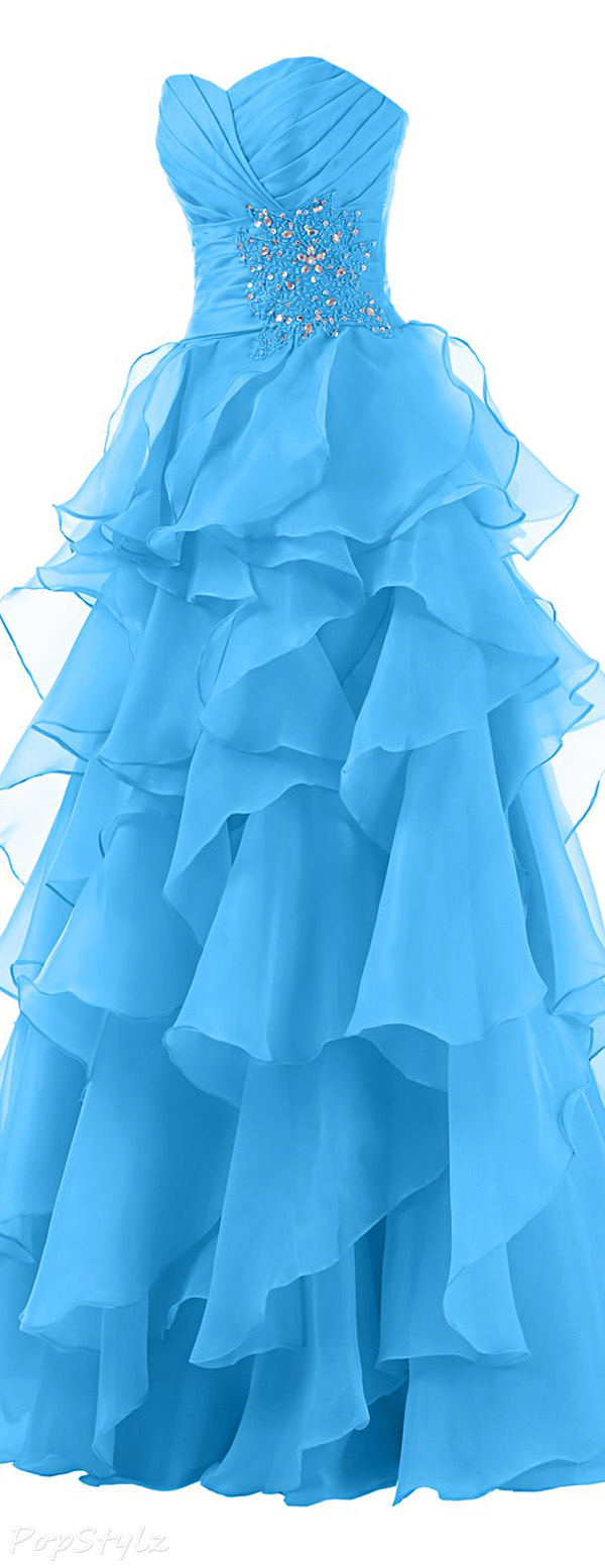 Sunvary Sweetheart Pleated Evening Gown