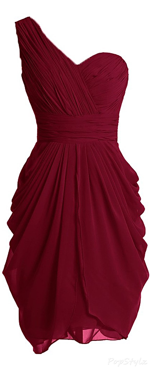 Sunvary One Shoulder Sheath Formal Dress