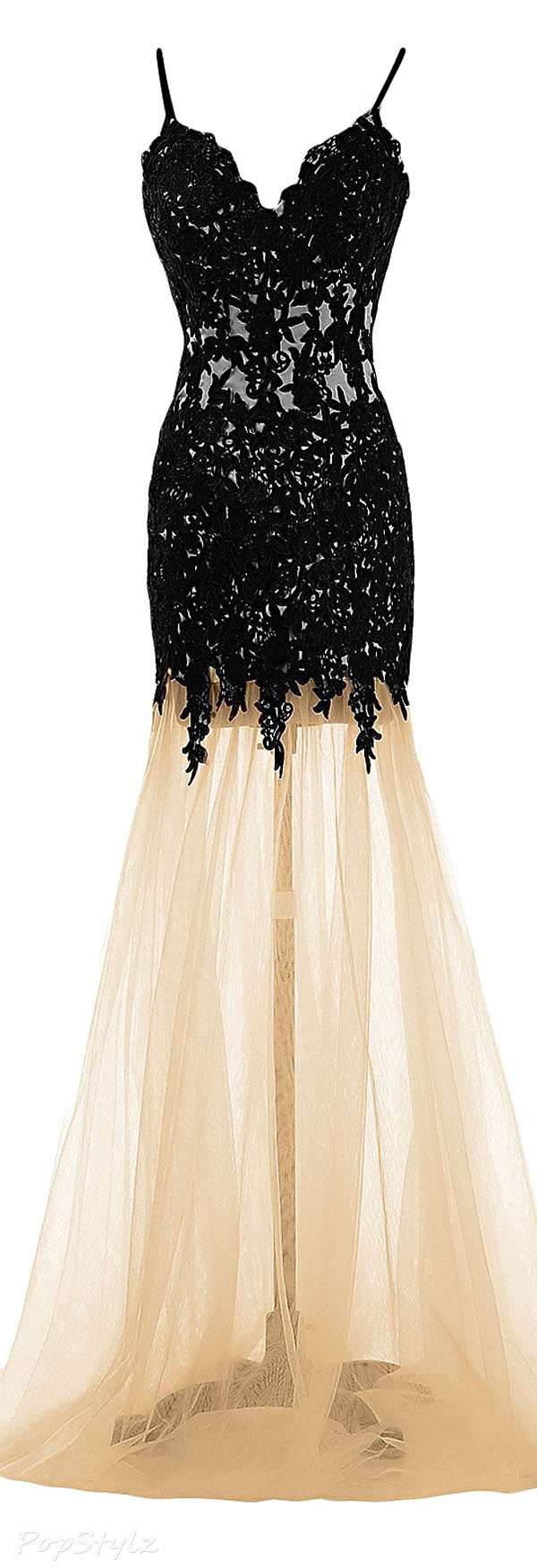 Sunvary Mermaid Tulle & Lace Evening Gown