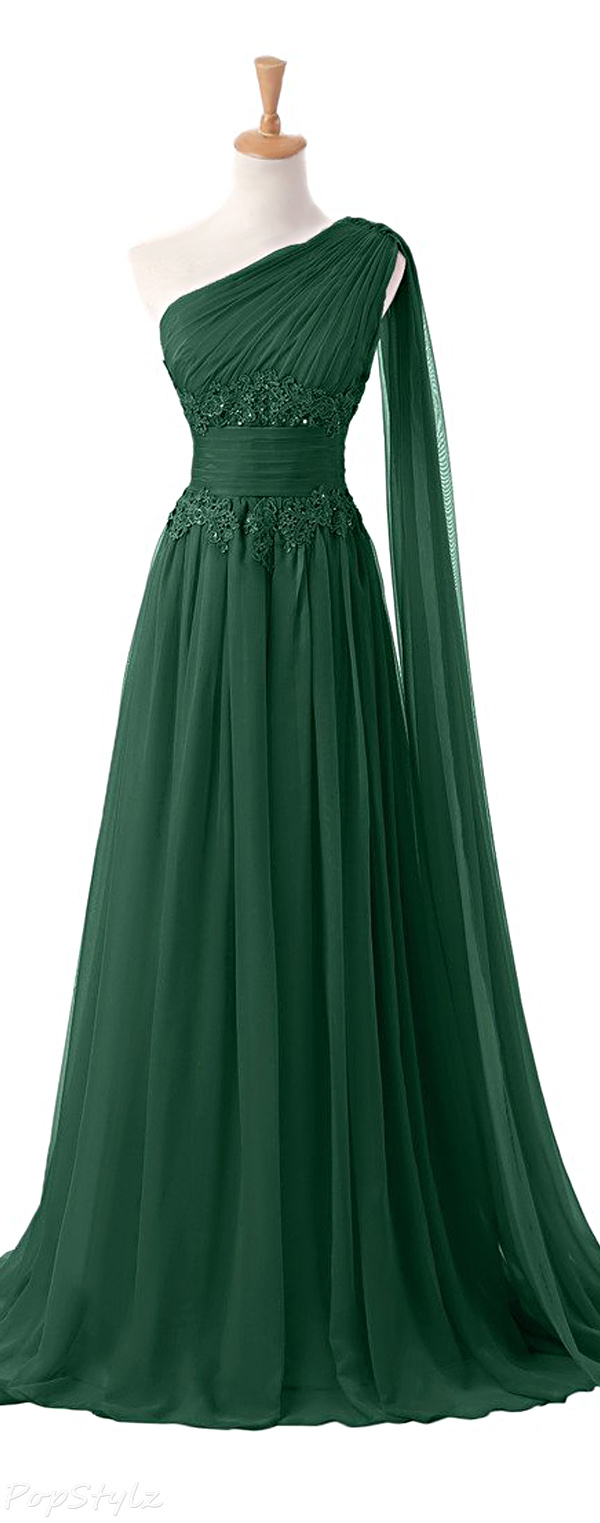Sunvary Applique Waist Pageant Evening Gown