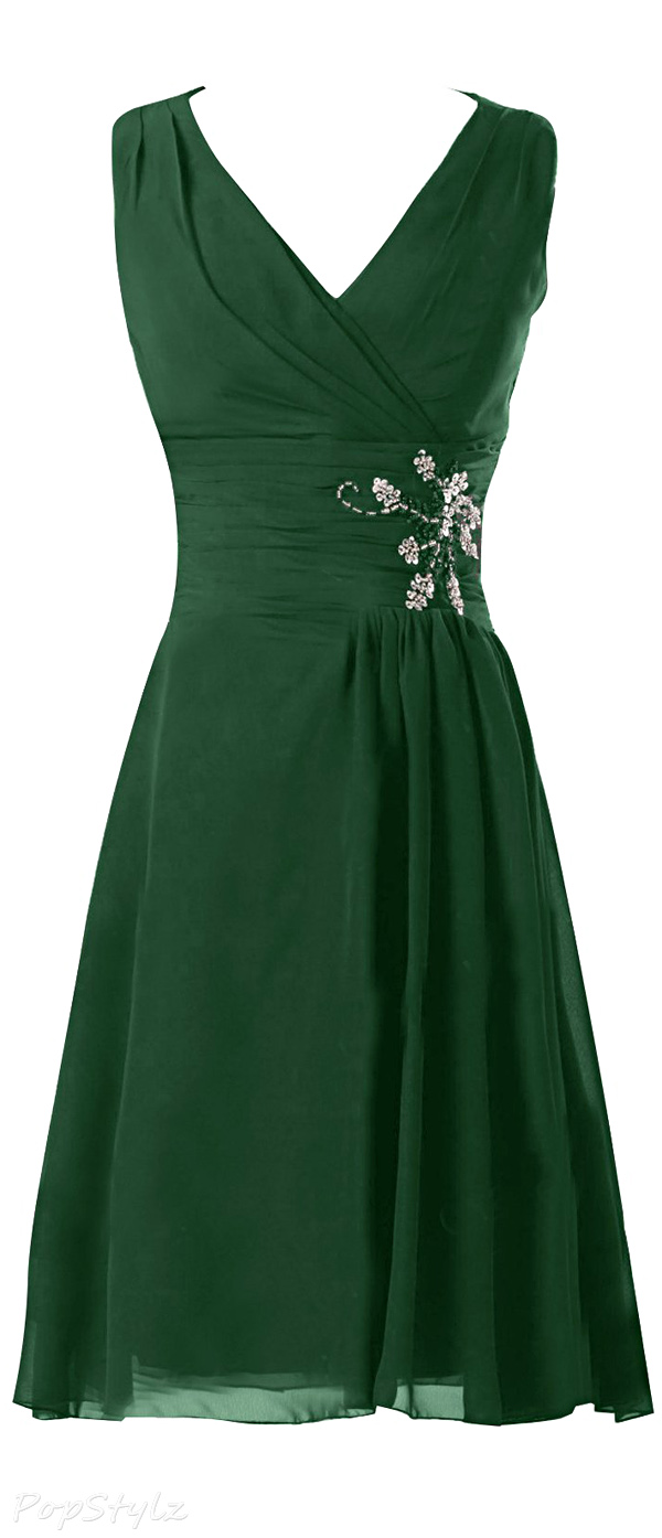 Sunvary V-Neck Knee Length Formal Evening Dress
