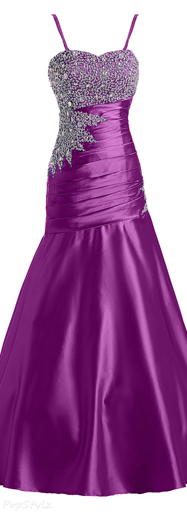 Sunvary Mermaid Rhinestones Long Evening Gown
