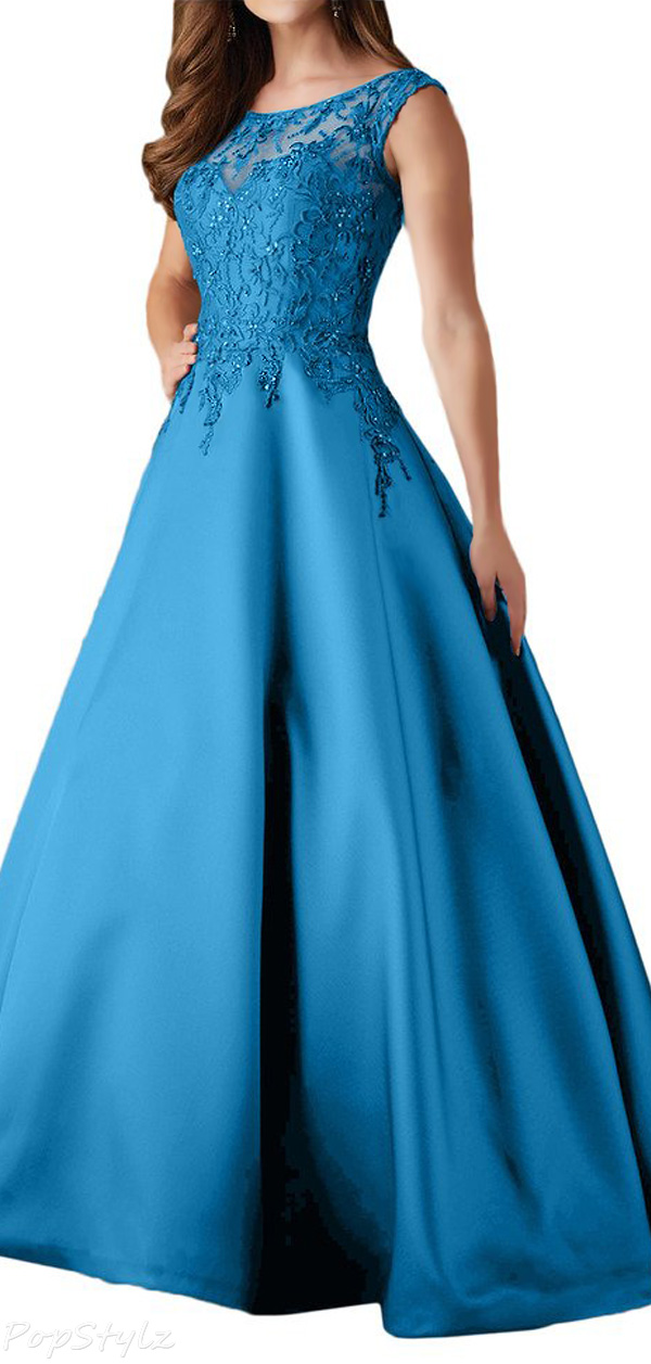 Milano Bride Sleeveless Embroidered Ball Gown