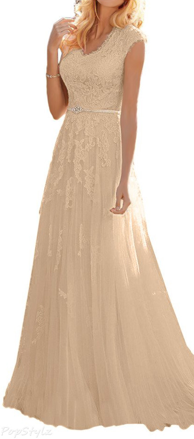 Milano Bride Grace Princess Floral Lace Gown