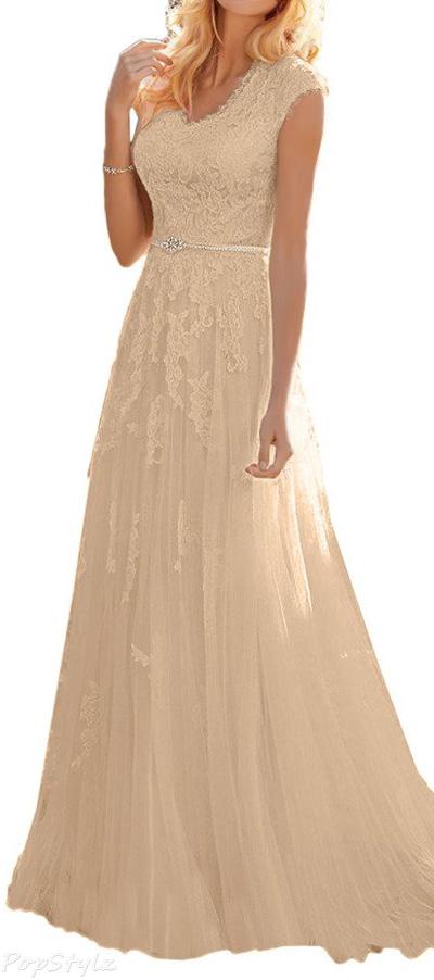 Milano Bride Grace Princess Floral Lace Gown