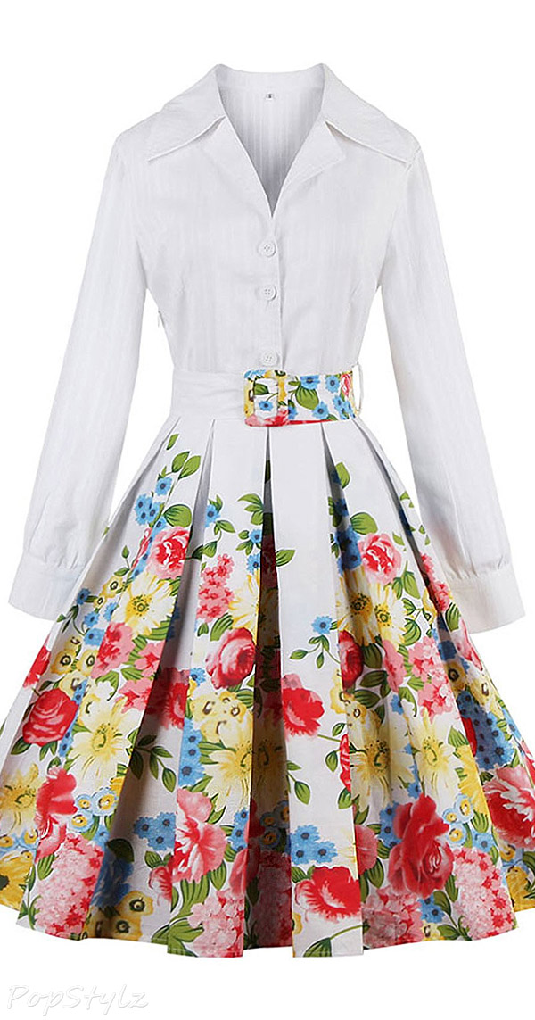 Babyonline Vintage 1950s Rockabilly Audrey Hepburn Dress