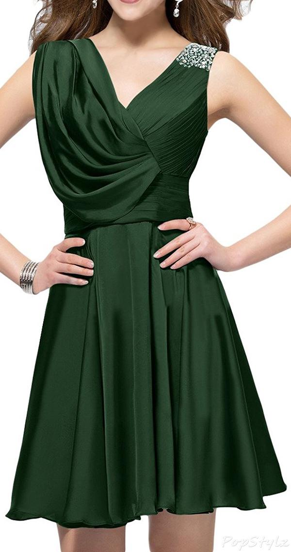 Sunvary Short Satin Formal Evening Dress