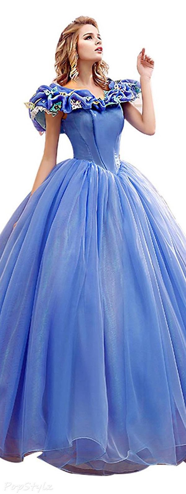 Snowskite Butterfly Princess Cinderella Ball Gown