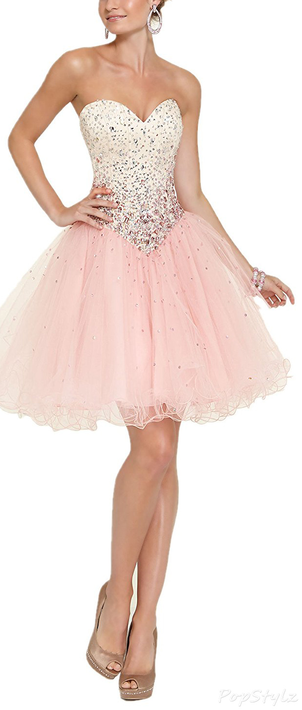 Special Bridal Beaded Tulle & Satin Dress