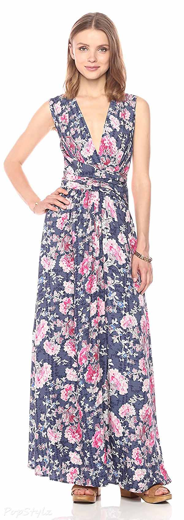 Ella Moon Tess Sleeveless V-Neck-Maxi Dress